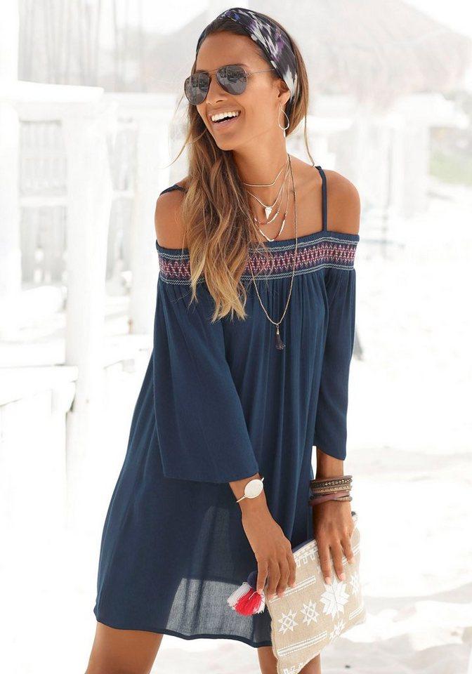 s.oliver beachwear -  Strandkleid aus gewebter Viskose