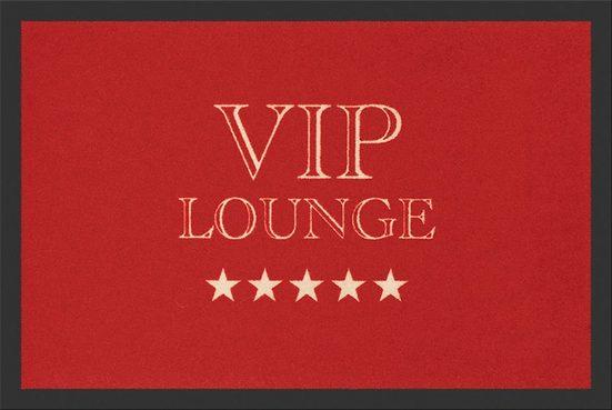 "Fußmatte »Rockbites Fußmatte "" VIP Lounge rot ""Türmatte Fußabstreifer 15 (100668)«, Rockbites"