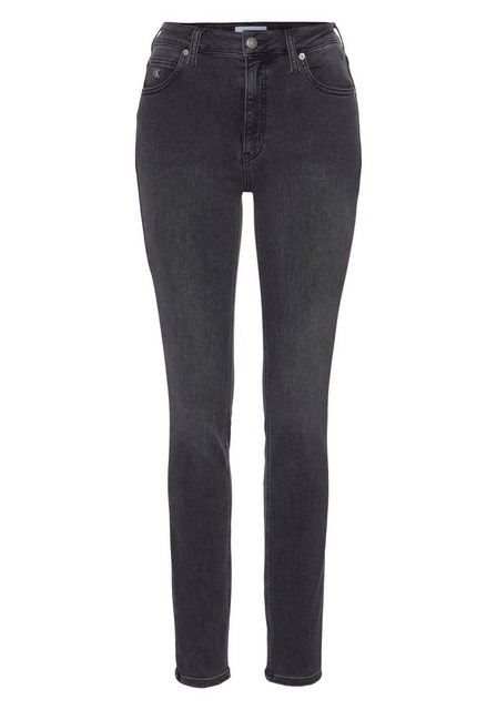Hosen - Calvin Klein Jeans Skinny fit Jeans »CKJ 010 HIGH RISE SKINNY« mit CK Monogramm Stickerei › grau  - Onlineshop OTTO