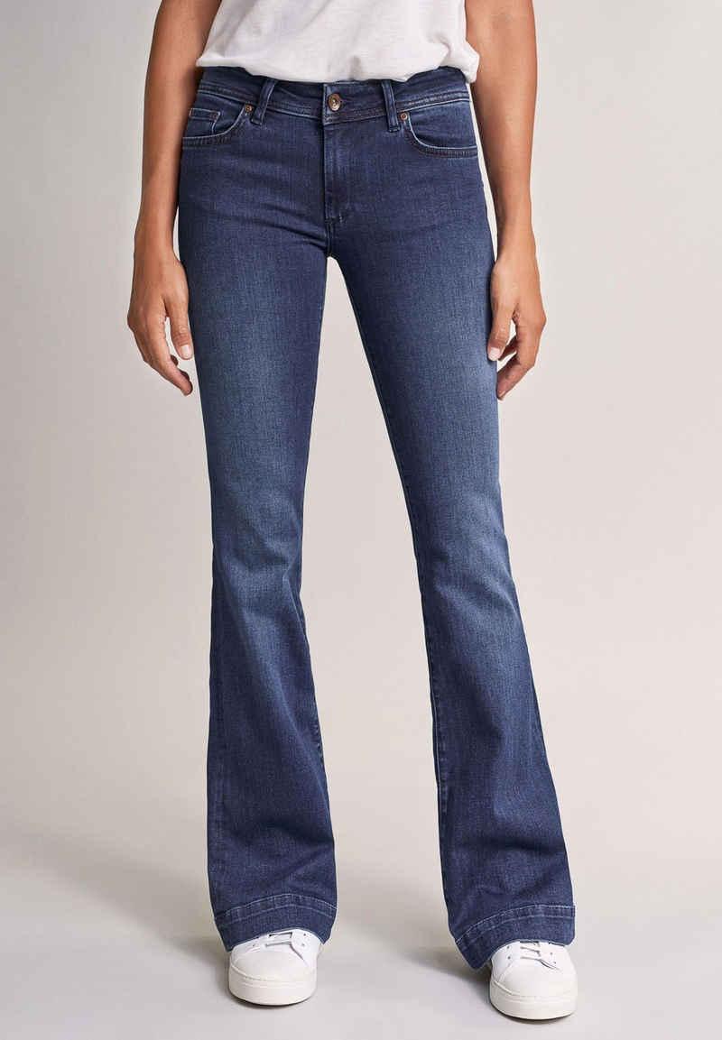 Salsa Regular-fit-Jeans »Wonder« Push Up, Flare, in dunklem Denim