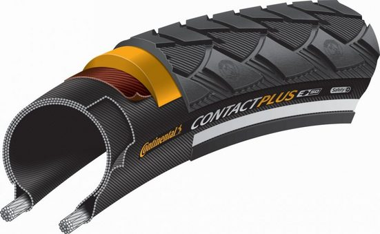 CONTINENTAL Fahrradreifen »Reifen Conti Contact Plus Reflex 28x1 5/8x1 1/8' 3«