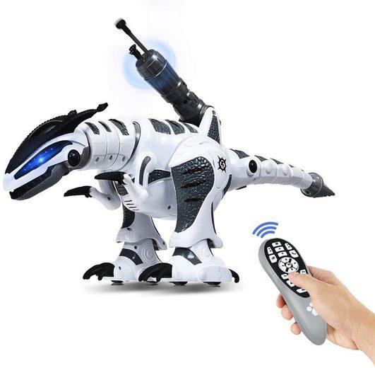 COSTWAY RC-Roboter »RC Interaktiv Dinosaurier Roboter«, mit Sound & LED-Effekte, mit Kampfmodus, Musik-, Tanz- und Schießfunktion, für Kinder über 3 Jahre alt