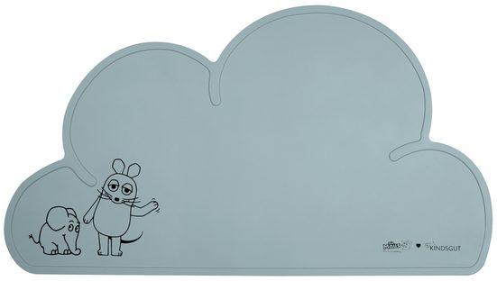 Platzset, »Platzdeckchen X Die Maus und der Elefant«, Kindsgut, Tisch-Set Wolke, Unterlage in kinderfreundlichem Design und dezenten Farben mit der Maus und dem Elefanten, frei von BPA, Aquamarin