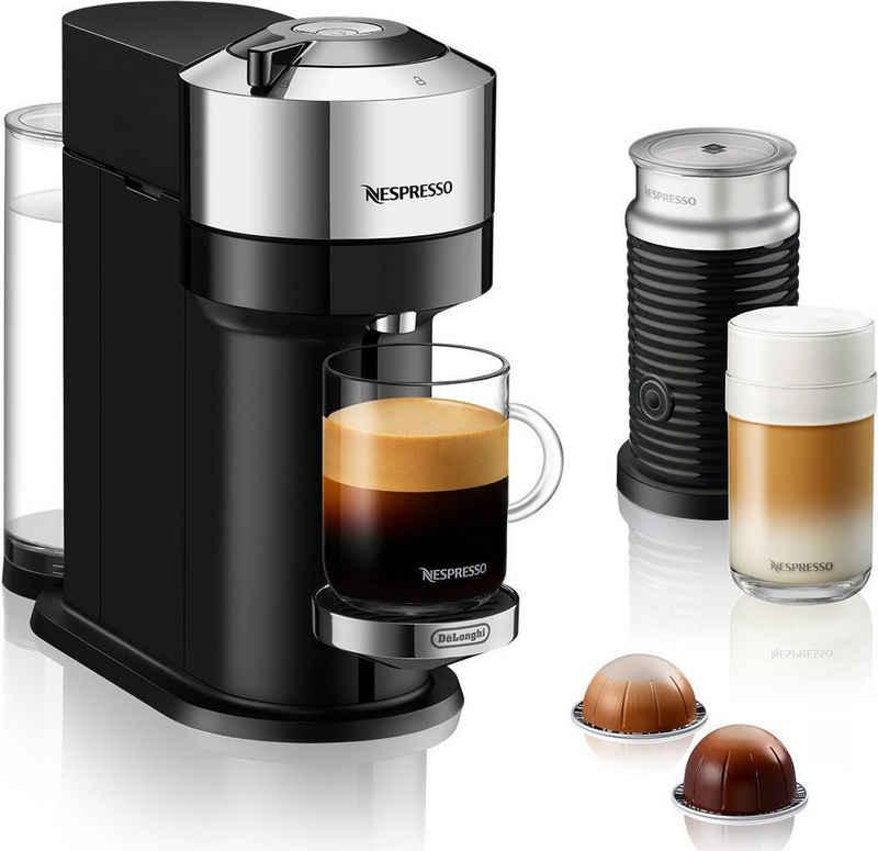 Nespresso Kapselmaschine ENV 120.CAE Vertuo Next Deluxe, inkl. Aeroccino Milchaufschäumer, chrom