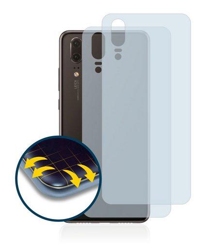 BROTECT Schutzfolie »für Huawei P20 (Rückseite)«, (2 Stück), Full-Cover 3D Curved klar