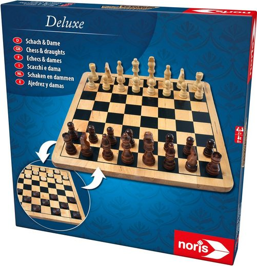 Noris Spiel, Brettspiel »Deluxe Holz - Schach & Dame«