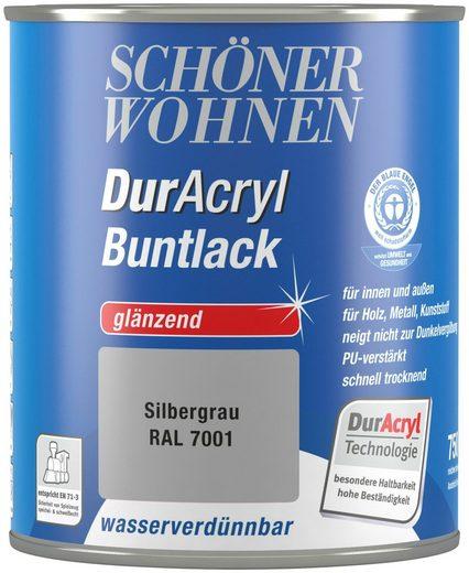 Schöner Wohnen Farbe Buntlack »DurAcryl glänzend, 750 ml silbergrau«