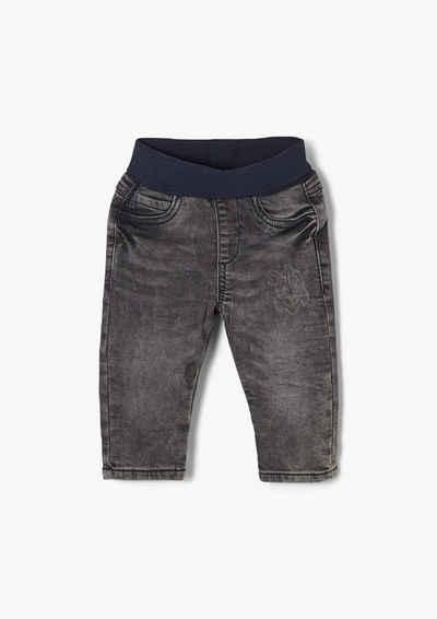 s.Oliver 5-Pocket-Jeans »Jeans mit Elastikbund« Waschung