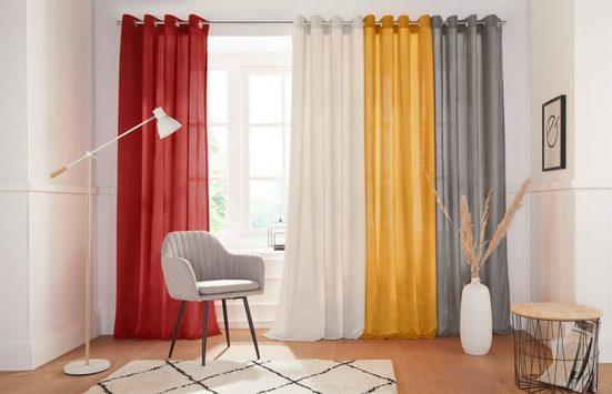 Vorhang »Tromso-Cord«, andas, Ösen (1 Stück), Cordstoff, blickdicht, modern, monochrom