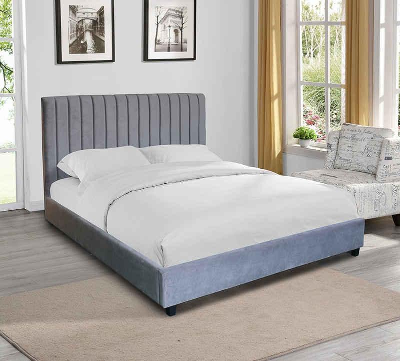 HOME DELUXE Bett »Bordeaux 180 x 200 cm«, extra großes gepolstertes Kopfteil