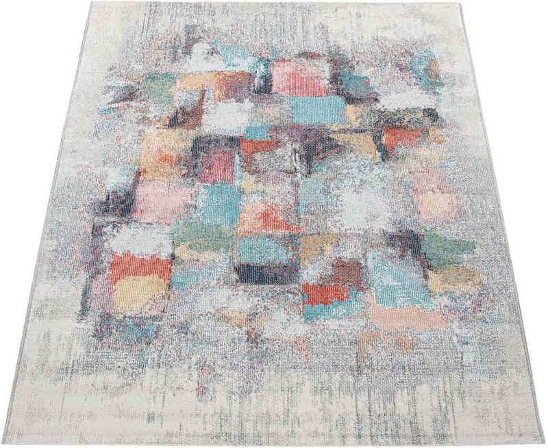 Teppich »Torres 277«, Paco Home, rechteckig, Höhe 4 mm, modernes abstraktes Design, In- und Outdoor geeignet, Wohnzimmer