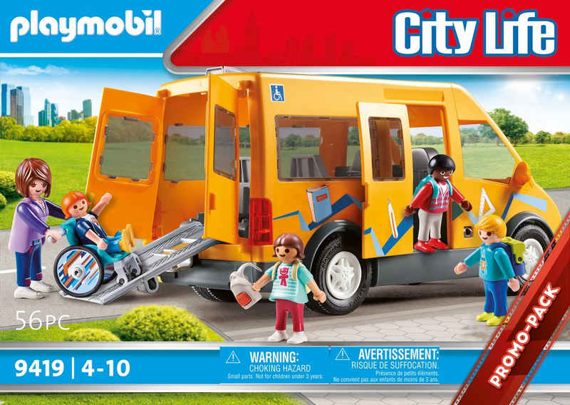 Playmobil® Konstruktions-Spielset »Schulbus (9419), City Life«, (56 St), Made in Europe