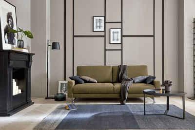 hülsta sofa 2,5-Sitzer »hs.450«, Fußgestell Chrom glänzend, Breite 184 cm wahlweise in Stoff oder Leder, mit schmaler Armlehne