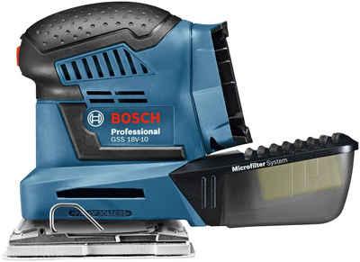 Bosch Professional Powertools Schwingschleifer »GSS 18V-10«, 18 V, ohne Akku und Ladegerät