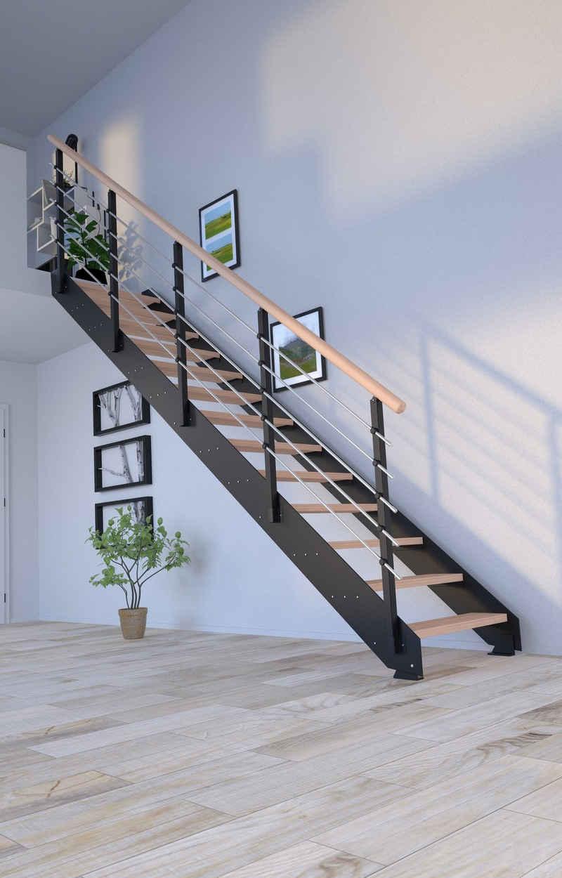 Starwood Systemtreppe »Kos, Metall«, Stufen offen, Geteilte