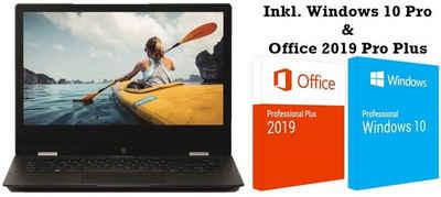 Medion® MEDION® AKOYA® E3222 - MD63840 inkl. Windows 10 Pro & Office 2019 Pro Plus - KOMPLETT STARTBEREIT Convertible Notebook (33,70 cm/13,3 Zoll, Intel® Intel® Pentium® Silver N5030, UHD Graphics, Intel® UHD Graphics, 128 GB SSD, 4GB DDR4, vorinstalliertes Windows 10 Pro & Office 2019 Pro Plus, 1 x USB 3.2 Gen1 Typ-C mit DisplayPort-Funktion, 1 x USB 3.2 Gen1 Typ-A, 1 x USB 2.0, 1 x mini HDMI out, 1 x Kartenleser für microSD-Speicherkarten)