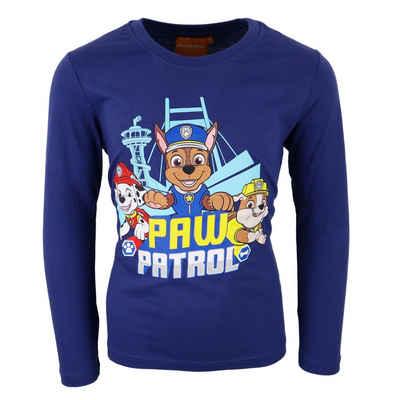 PAW PATROL Langarmshirt »Kinder Shirt« Gr. 98 bis 128, in Dunkelblau und Hellblau