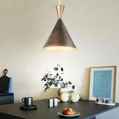 WOFI Pendelleuchte, Hängeleuchte Pendellampe Deckenlampe braun Wohnzimmer Hängelampe in runder Form, Metall, DxH 25x150 cm Wofi 6233.01.23.8250