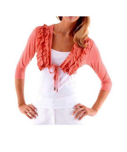 Vivance T-Shirt »Vivance Collection Damen Shirtbolero, koralle«