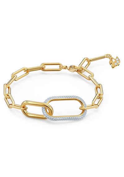 Swarovski Armband »Time, weiss, Metallmix, 5566003«, mit Swarovski® Kristallen