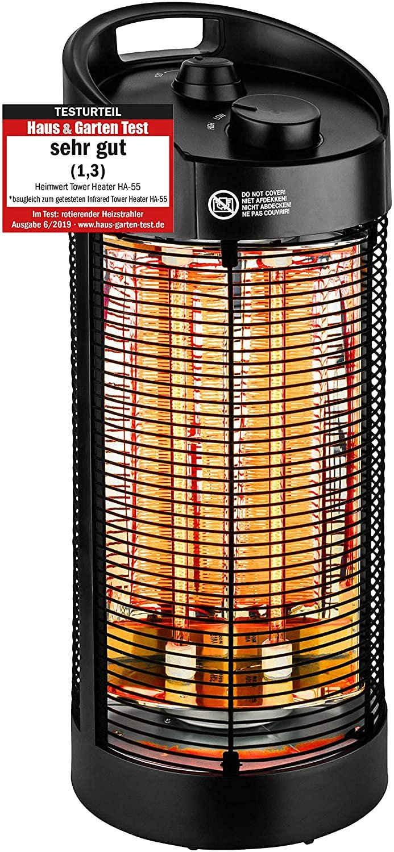HEIMWERT Infrarotstrahler Heizstrahler 1200 Watt 360 Grad