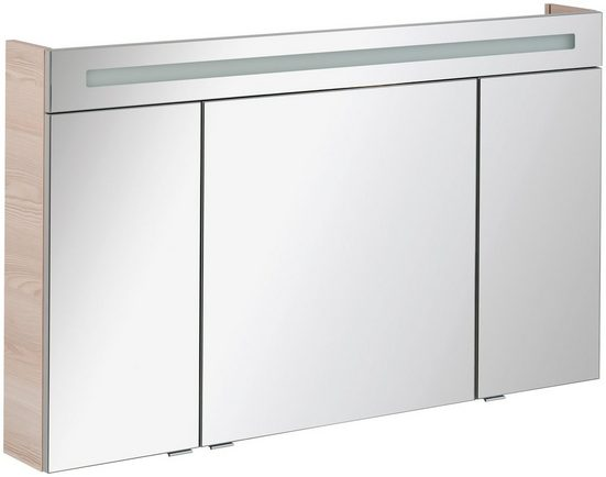 FACKELMANN Spiegelschrank »CL 120 - Alaska-Esche«, Breite 120 cm, 3 Türen