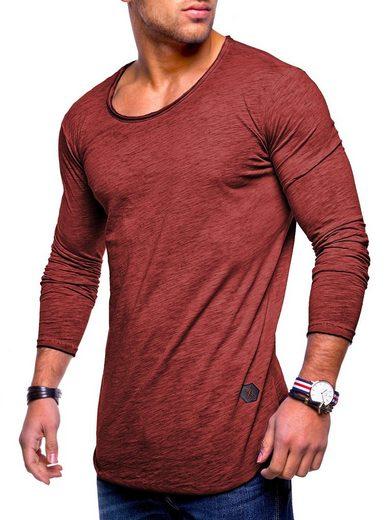behype Langarmshirt »Dust L/S« mit weitem Halsausschnitt