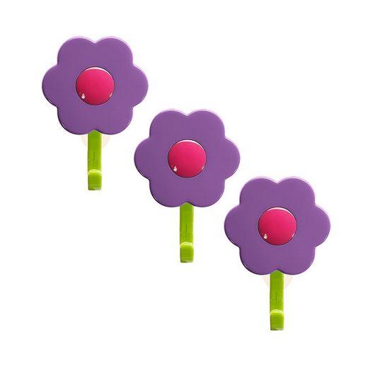 Wandhaken »Blumenhaken S«, Kochblume, (Spar-Set, 3-St), Tragkraft bis zu 3,5 kg
