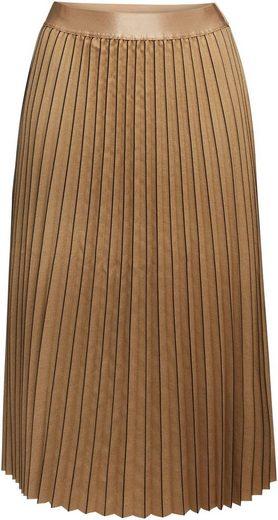 Esprit Collection Plisseerock im modischen Streifen-Look