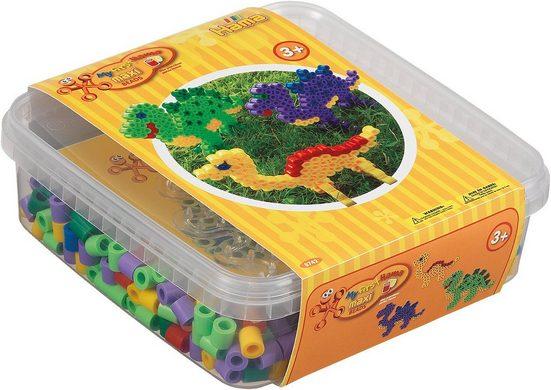 Hama Perlen Bügelperlen »HAMA 8742 Box gelb, 600 maxi-Perlen & Zubehör«