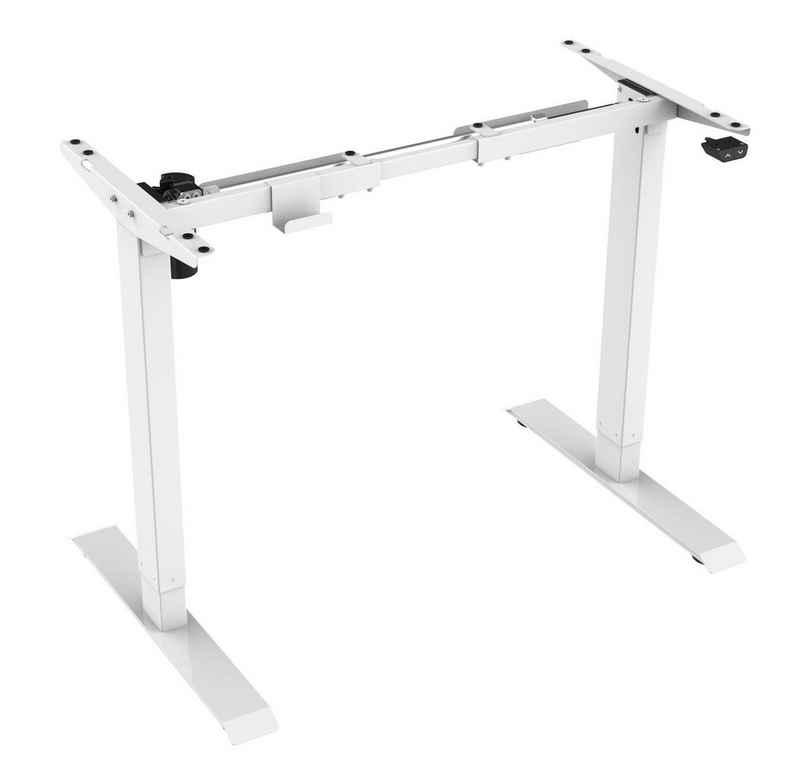 HC Home & Living Schreibtisch »Elektrisch höhenverstellbares Tischgestell 71-121«, Rahmenhöhe: 710 mm bis 1210 mm, Gleichmäßige Gewichtsverteilung