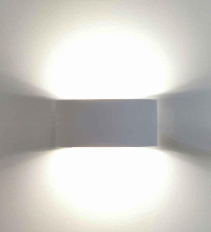 TRANGO LED Außen-Wandleuchte, 3075-04TF IP44 Up & Down Wandstrahler in Titan Silber inkl. 2x 3,5 Watt 4000K Neutralweiß LED Modul *OTTO* für innen & außen, Außenwandleuchte, Außenstrahler, Wandstrahler, Wandleuchte