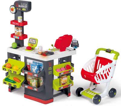 Smoby Kaufladen »Supermarkt mit Einkaufswagen«, mit Licht- und Soundeffekten; Made in Europe
