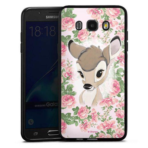 DeinDesign Handyhülle »Bambi Flower Child« Samsung Galaxy J7 (2016), Hülle Bambi Disney Offizielles Lizenzprodukt