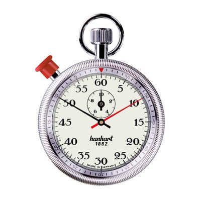 hanhart Stoppuhr »Stoppuhr Long Distance Stundenzähler«, kannelierte Drehlünette, 1/5-Sekunden-Messung, Sekundenzeiger, springender Minutenzeiger