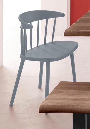 INOSIGN Stuhl »Graz« (Set, 2 Stück), in vier trendigen Farbvarianten, aus Kunststoff, Sitzhöhe 43 cm