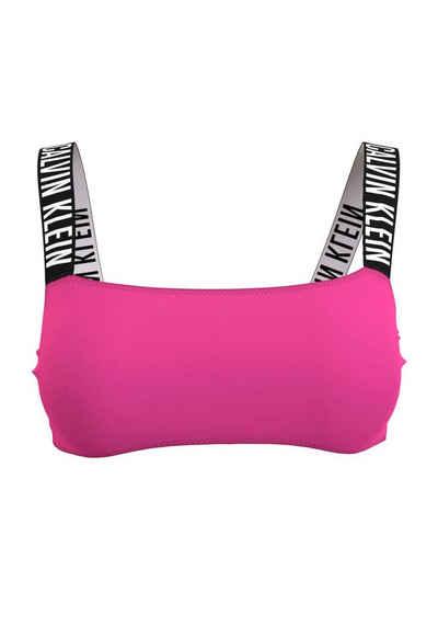 Calvin Klein Bustier-Bikini-Top, mit elastischen Calvin-Klein-Trägern