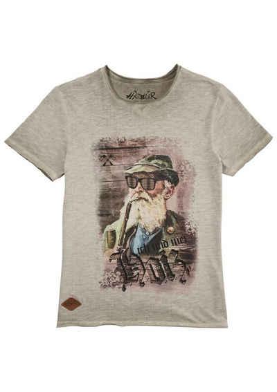 Hangowear Trachtenshirt mit originellem Motiv und App zum Herunterladen