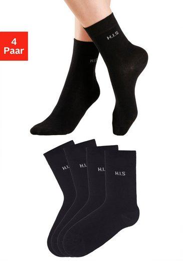 H.I.S Socken (4-Paar) ohne einschneidendes Bündchen