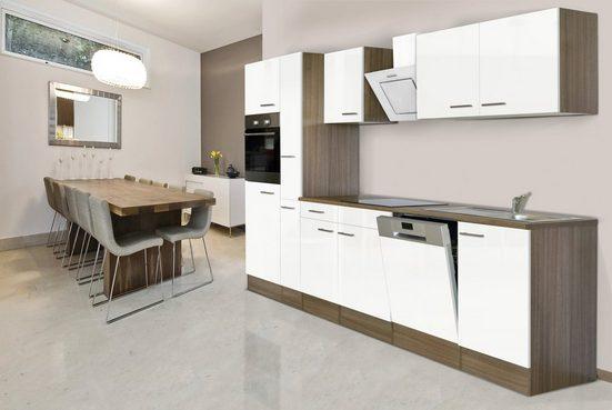 Küchenzeile »York«, mit E-Geräten, Breite 310 cm