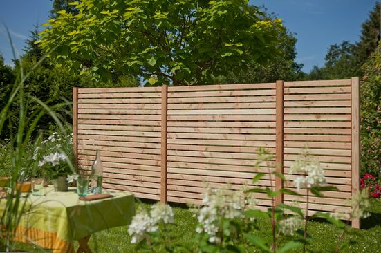 Kiehn-Holz Set: Dichtzaun 3-tlg. BxH: 486x180 cm, mit 4 Pfosten