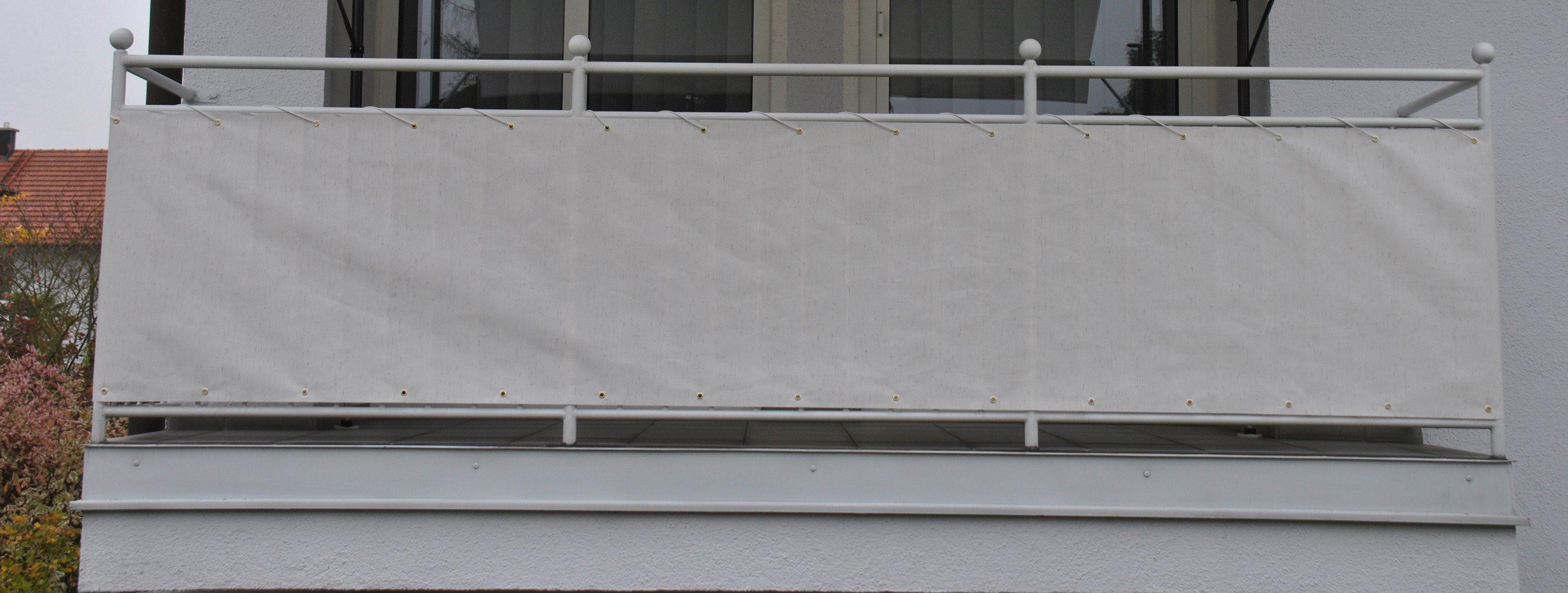 Sichtschutz Balkon Windschutz Balkonbespannung 500x90cm Gelb//Weiß