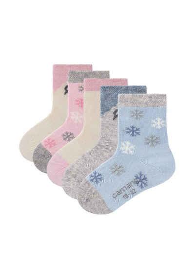 Camano Socken »ca-soft mit Bio-Baumwolle Husky« (5-Paar) mit weichem Komfortbund