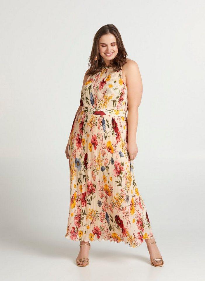 Festtagsmode - Zizzi Abendkleid Große Größen Damen Ärmelloses Maxi Kleid mit Plissee ›  - Onlineshop OTTO