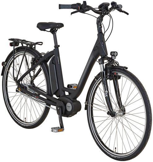 STRATOS E-Bike City 28 Zoll, 7 Gang, BOSCH Mittelmotor, 417 Wh, Rahmenhöhe:50 cm