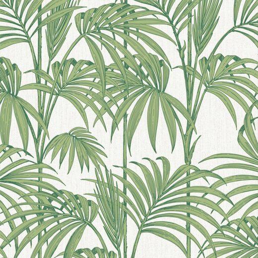 Vliestapete »Honolulu Palm Green«
