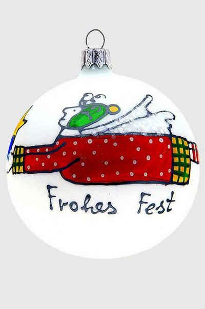 Hamburger Weihnachtskontor Weihnachtsbaumkugel »Kugel Viktoria«, mundgeblasen - handdekoriert