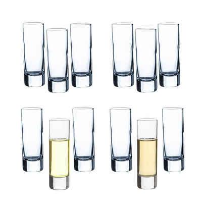 BigDean Schnapsglas »Set Schnapsgläser 60ml − Klassisches Schnapsg«, Glas