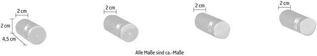 Garderobenleisten und Haken - GGG MÖBEL Hakenleiste »Senti«, 4er Set  - Onlineshop OTTO