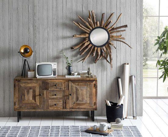 SIT Sideboard »Parquett«, aus recyceltem Teakholz, Breite 150 cm